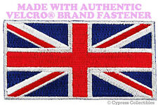 UK FLAG PATCH UNION JACK Great Britain ENGLAND EMBLEM w/ VELCRO® Brand Fastener