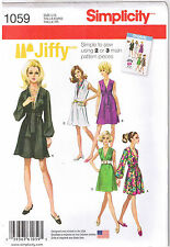 Vtg 60s Retro Jiffy V Neck Dress Sash Simplicity Pattern Plus Sz 14 16 18 20 22