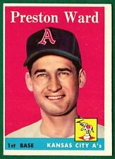 1958 Topps Baseball #446 PRESTO WARD RC SP -INDIANS -EXMT