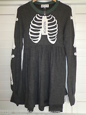 NWT WILDFOX COUTURE Skeleton Babydoll Dress Halloween Medium M *FREE PRIORITY*