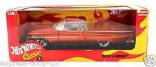 New Mint Hot Wheels Classics 1959 Chevrolet El Camino Orange 1:18