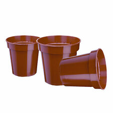 "2.1/2"" (6CM) TERRACOTTA PLASTIC SMALL PLANT POTS FLOWER POTS NEW X 100"