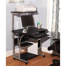 Computer Desk w/ Printer Shelf Stand Home Office Rolling Laptop Study Table NEW