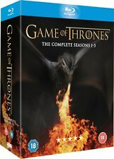 GAME OF THRONES SERIES 1-5 COMPLETE BLU RAY BOX SET 1NEW SEASONS PRE ORDER 2 3 4