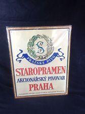 """Staropramen Beer Tin Sign Prague Czech New!!  16"""" X 12.75"""""""