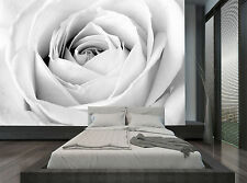 Black And White Rose Flower Wall Mural Photo Wallpaper GIANT WALL DECOR