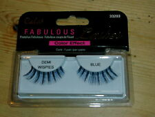 Cala Fabulous Color Effect 'Demi-Wispies' Lashes 1 Pair Blue Mix BNWT