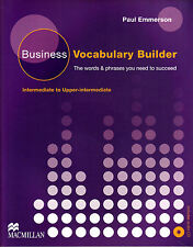 Macmillan BUSINESS VOCABULARY BUILDER Intermediate to Upper with AUDIO CD @NEW@