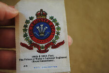 The Leinster regiment cigarette silk