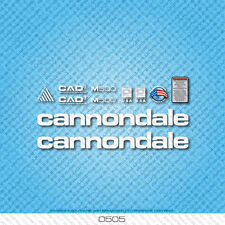 CANNONDALE m500 Bicicletta Decalcomanie-Transfers-Adesivi-Bianco - Set 0505
