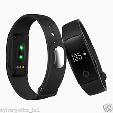 Syntrino HR 107 Black Heart Rate Monitor,Bluetooth Smart Band Fitness Tracker