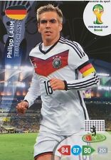 N°107 PHILIPP LAHM # DEUTSCHLAND PANINI CARD ADRENALYN WORLD CUP BRAZIL 2014