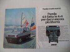 advertising Pubblicità 1983 FIAT PANDA 4X4