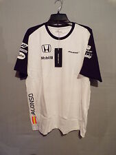 McLaren Honda Fernando Alonso Team Short Sleeve XL T-Shirt Top White Mens