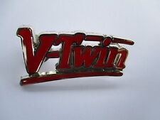 Red V Twin Motor Lapel Pin Badge Quality biker men's shed sports motorcycle