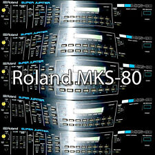ROLAND MKS-80 Original Factory & New Created Sound Library & Editors on CD