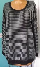 MOTHERHOOD OH BABY BUMP STYLE BLACK STRIPED LONG SLEEVE MATERNITY TOP - L - NWT