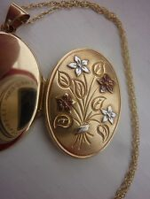 Gold Hallmarked 9ct Gold Locket/ Pendant And Chain