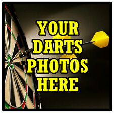 PERSONALISED COASTERS - OWN DARTS PHOTO'S  - SET OF 4 COASTERS - GIFT  BRAND NEW