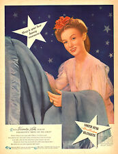 1940s vintage AD  NORTH STAR BLANKETS  Veronica Lake Star Paramount 031415