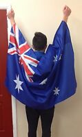 WEARABLE AUSTRALIAN FLAG 5X3 Football Rugby Fan Supporters
