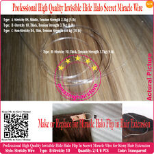 "18"" Stretch Invisible Miracle Halo Hair Wire for Flip In Human Hair Extension-B"