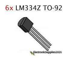 6pcs LM334Z TO-92 Adjustable Current Sources and Temperature Sensor LM334
