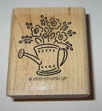 Watering Can Rubber Stamp Flowers Stampin' Up! Bouquet Roses Floral Retired EUC