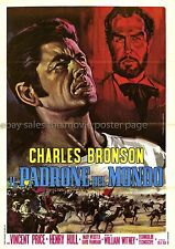Master of the World 1961 Charles Bronson Italian two-sheet movie poster