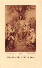 "OLD nice french rare Holy cards from 1920""H5686"" jesus benit les petit enfants"