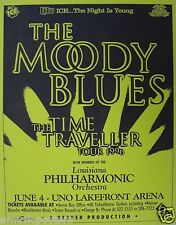 """MOODY BLUES """"TIME TRAVELLER TOUR 1996"""" NEW ORLEANS POSTER - Classic Rock Legends"""