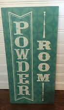 Powder Room Sign Turquoise And White Decor Home