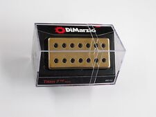 DiMarzio Titan 7 String Neck Humbucker W/Gold Cover & Black Poles DP 713