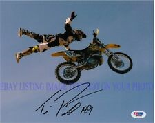 TRAVIS PASTRANA AUTOGRAPHED 8x10 RP PHOTO NITRO CIRCUS X GAMES STUNTS