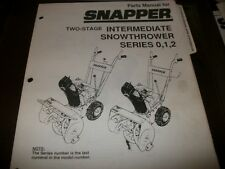 snapper snow thrower series 0,1,2, two stage illustrated parts manual