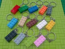 5 x NEW ASSORTED LEGO BRICK KEYRINGS KIDS PARTY BAG STOCKING FILLERS FAVOURS -