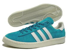 Mens Adidas Originals Campus 80's Turquoise Leather Trainers Sneakers UK 7.5