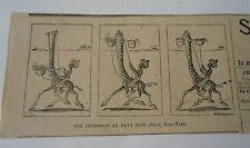 Un invention au pays Noir Girafe Humour image print 1900