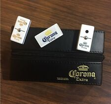 New Corona Extra Dominoes Game Set, Double Six, Domino With Leather Case