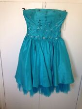 Dynasty Of London Aqua Turquoise Blue Prom Dress Ball Gown Races