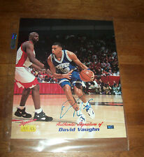 Signature Rookies University of Memphis David Vaughn Autographed Picture