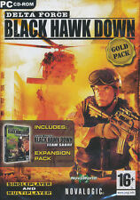 Delta Force BLACK HAWK DOWN GOLD + Team Sabre - Novaworld Shooter PC Game NEW!