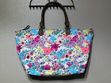 Mossimo Supply Co. Large Floral Tote Bag Handbag Shopper Cotton Zippered