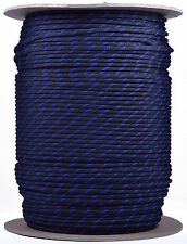Thin Blue Line - 550 Paracord Rope 7 strand Parachute Cord - 1000 Foot Spool