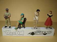4  FIGURINES 1/43  ASSORTIMENT  A12  ASSORTMENT  VROOM  4  UNPAINTED  FIGURES