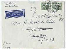 1941 Netherlands Cover Airmail & Railway Mail - WW2 Censor, Cologne Cancel*