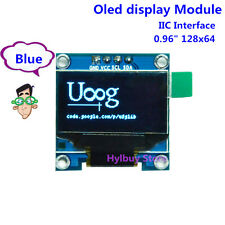 Blue 3.3V 5V I2C IIC 128X64 OLED LCD Screen Display Module für Arduino STM32 #52