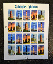 2003USA #3787-3791  37c - Southeastern Lighthouses - Sheet of 20 Mint with error