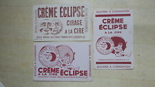 LOT DE 3 BUVARD CIRAGE CREME ECLIPSE