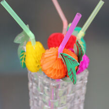 50 Paper Umbrella Plastic Drinking Straw Beach Party Fruit Straw Supply ITBU